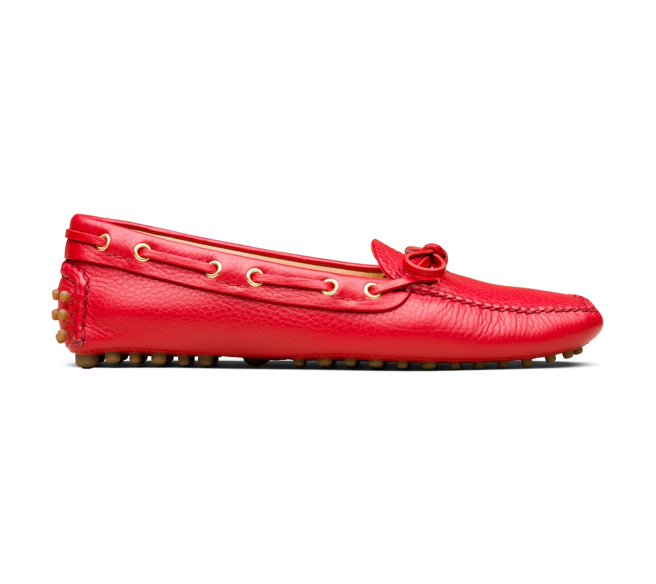 DEERSKIN DRIVING SHOES RED