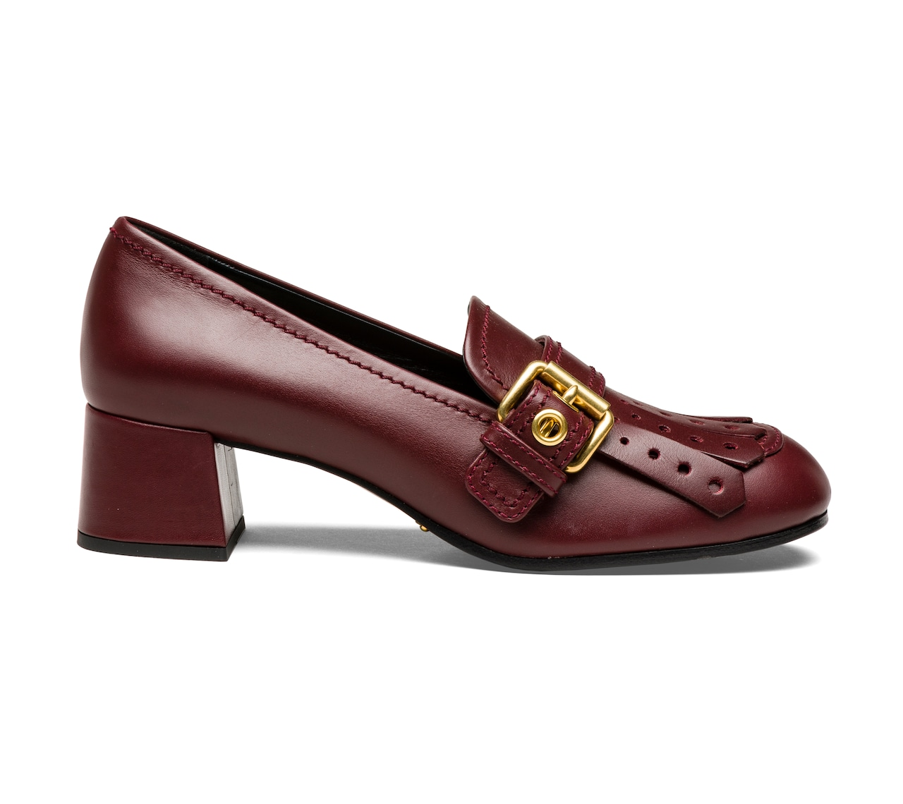 MOCASSINS CALF LEATHER BURGUNDY