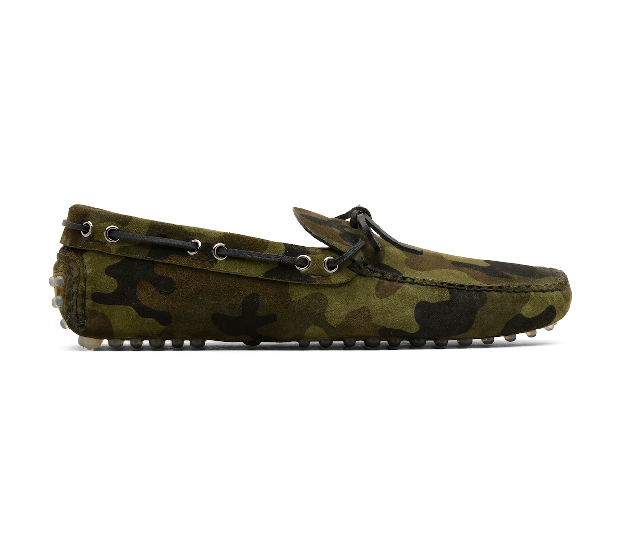 DRIVING SHOES CAMOUFLAGE PRINTED SUEDE GREEN