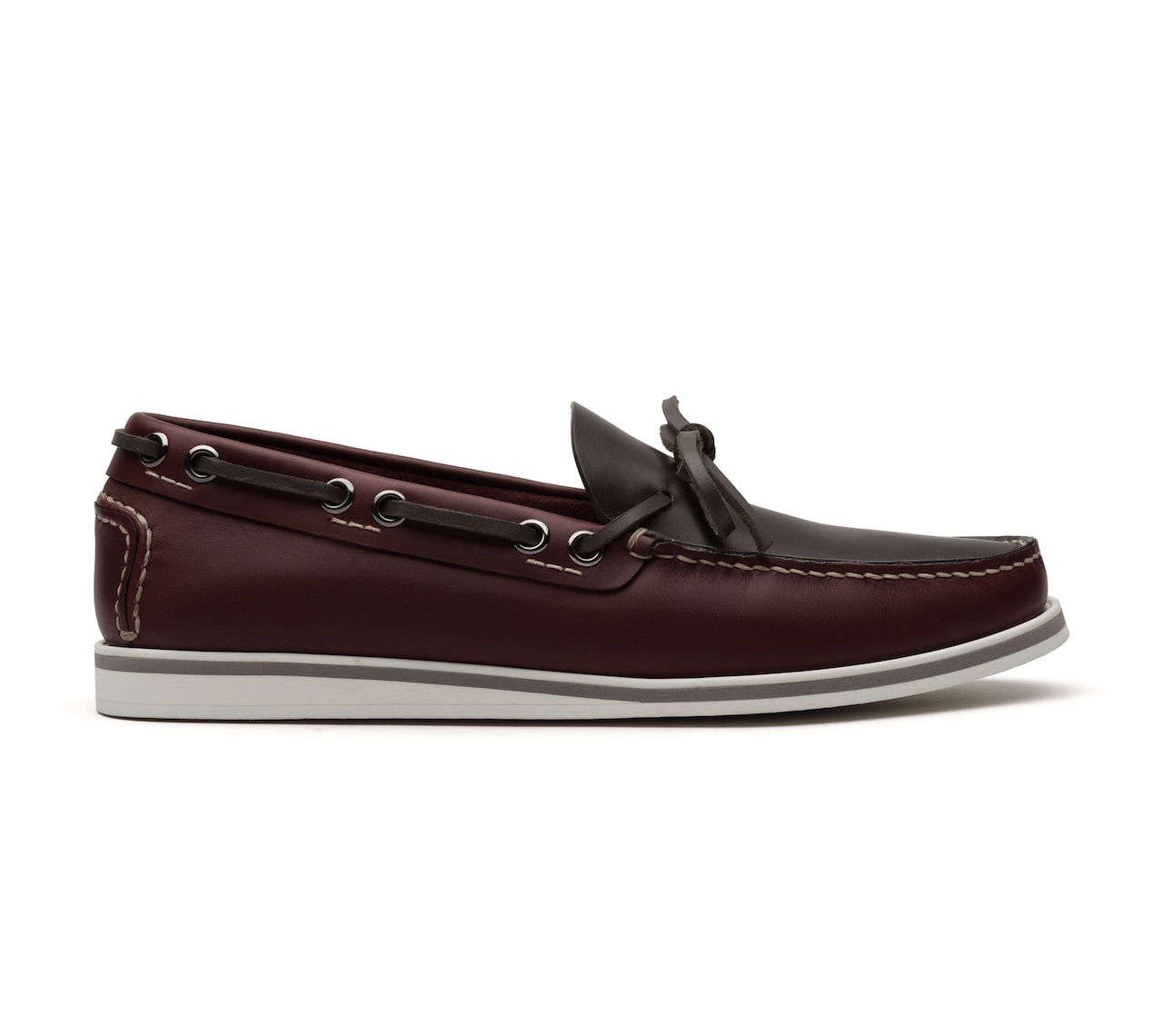 MOCASSINI PULL UP BORDEAUX