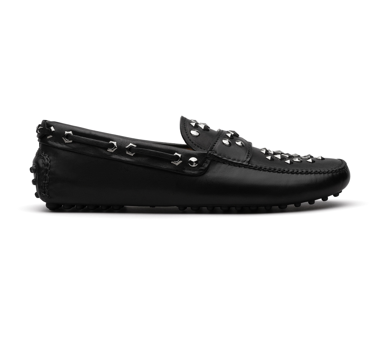 DRIVING SHOES NAPPA METAL NERO