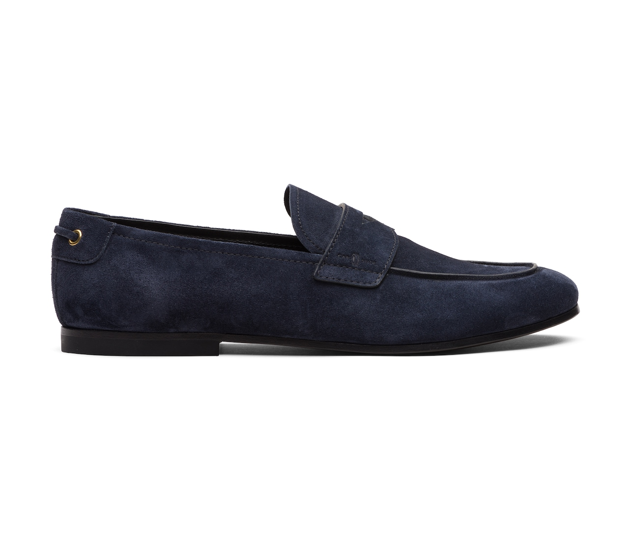 SUEDE MOCASSINS BLUE